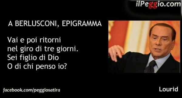 Epigramma Berlusconi satira