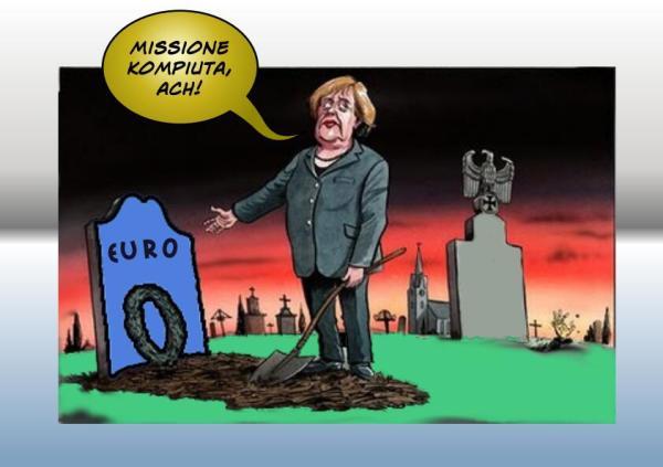 euro merkel europa satira vignetta