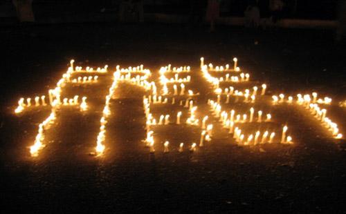 FREE TIBET candleglow 2
