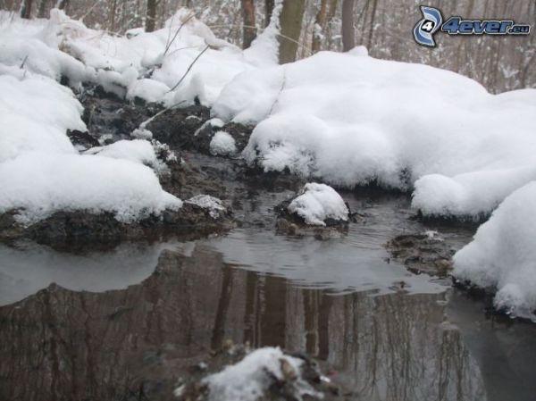 [immagini.4ever.eu] ruscello, neve 149225