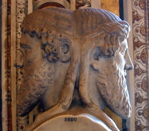 Jano bifronte. El Dios romano de las puertas (Imatge)