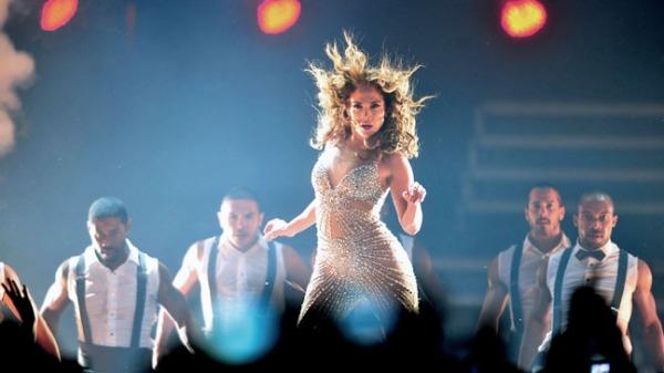 US actress and singer Jennifer Lopez per