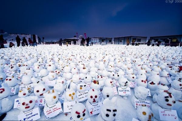 Sapporo-Snow-Festival-pupazzi-di-neve