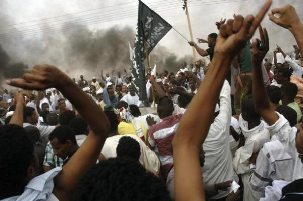 Sudanese demonstrators attack the U.S. embassy in Khartoum