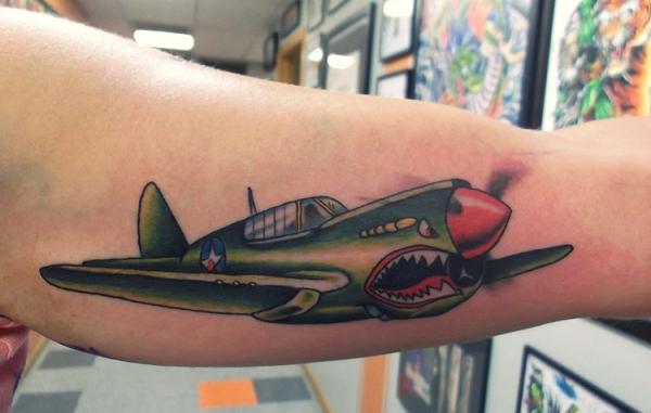 airplane-tattoo