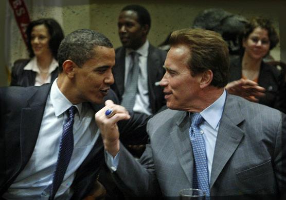 Arnold+Obama