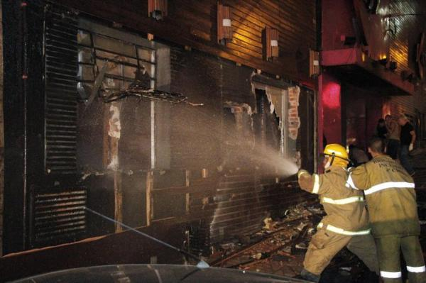 AT LEAST 180 PEOPLE DIED IN A FIRE AT A DISCO IN BRAZIL
