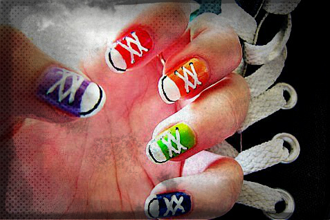 funny casual shoes nail art-f60672