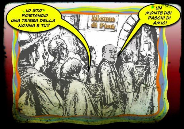monte paschi siena bersani satira barzellette carton vignette