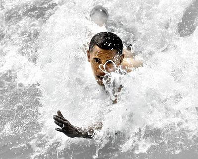 obama-swimming