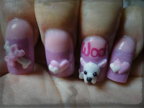 Puppy-3D-Nail-Art