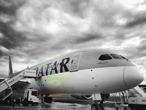 Qatar Airways Boeing 787 Dreamliner at Farnborough air show