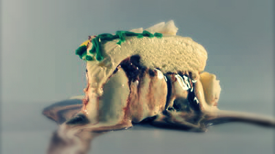 stock-footage-melting-ice-cream-cake