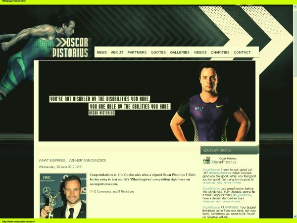 www.oscarpistorius.com