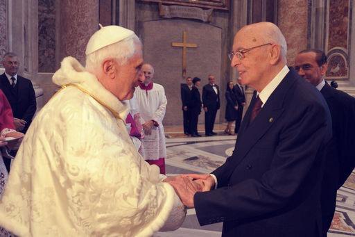 napolitano-benedetto XVI