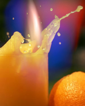 fruit juice- ustione - succo-frutta