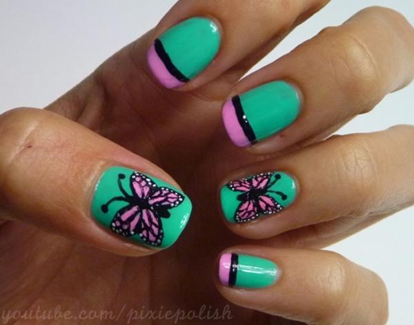 butterfly_nail_art_by_pixieamor-d4zrzbg