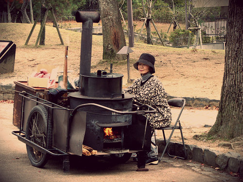 japan Old_Style_Yaki_Imo_Cart