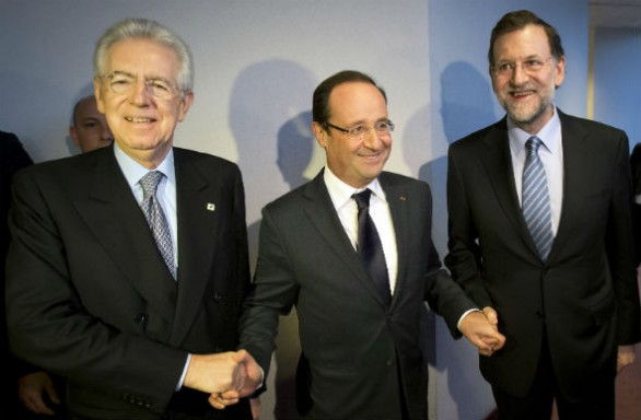 Monti-Hollande-Rajoy_Bruxelles-586x384