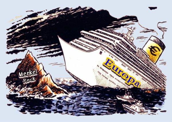 naufragio europa euro merkel satira umorismo