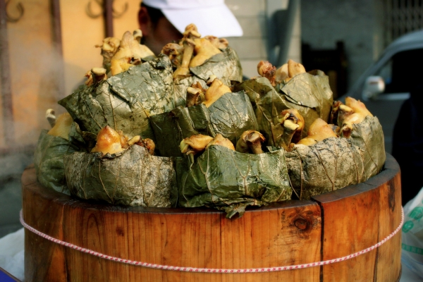 Street food on Nanluguxiang, Beijing, China