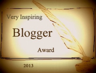 Very Inspiring Blogger Award by SCassandra