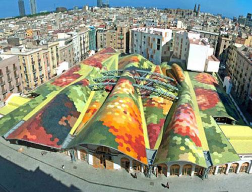 santa caterina-market-mercato-architettura-tuttacronaca-barcellona-spagna