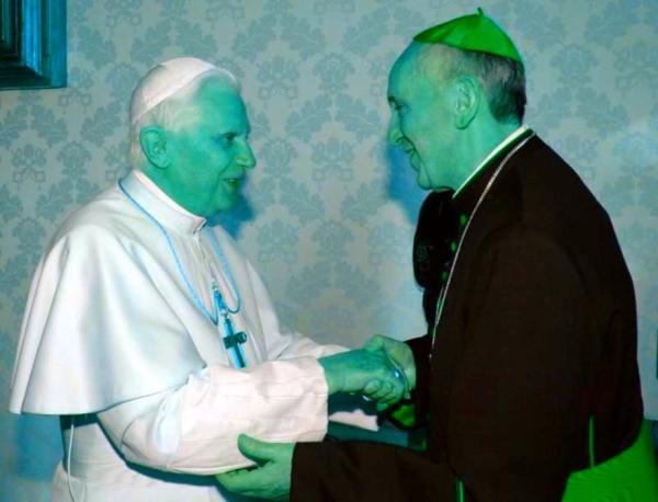 benedetto XVI - francesco-incontro-papi