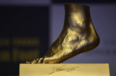 'The Golden Foot'- piede d'oro- lionel messi- tutatcronaca