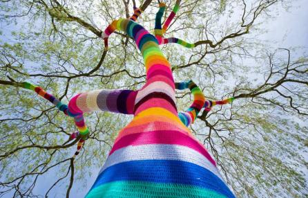 Yarn bombing- tuttacronaca-genova