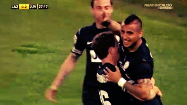 lazio-juve-festeggiamenti-gol-vidal-tuttacronaca