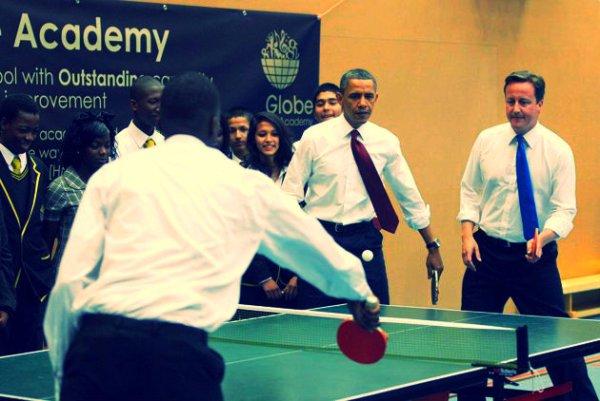 ping pong-david- cameron-tuttacronaca-obama