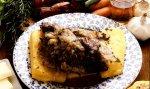 camoscio alla piemontese con polenta