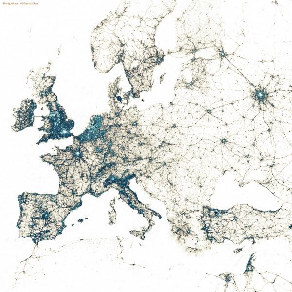 europa-twitter-mappa-geolocalizzazioni-tuttacronaca
