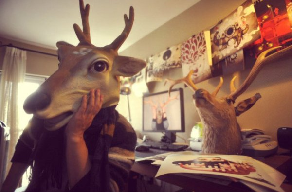maschera-cervo