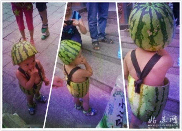 watermelon-baby-bambino-cocomero-cina-tuttacronaca