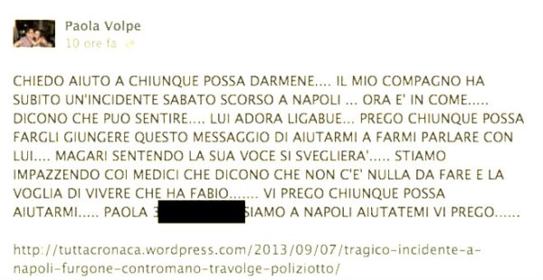 appello-paola-volpe-fabio-ligabue-facebook-tuttacronaca