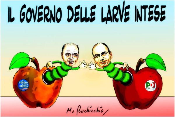 IL GOVERNO DELLE LARGHE INTESE-letta-alfano-tuttacronaca