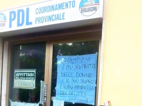 pdl-cartello-ravenna-femminicidio-stuprate-donne-giustizia-tuttacronaca