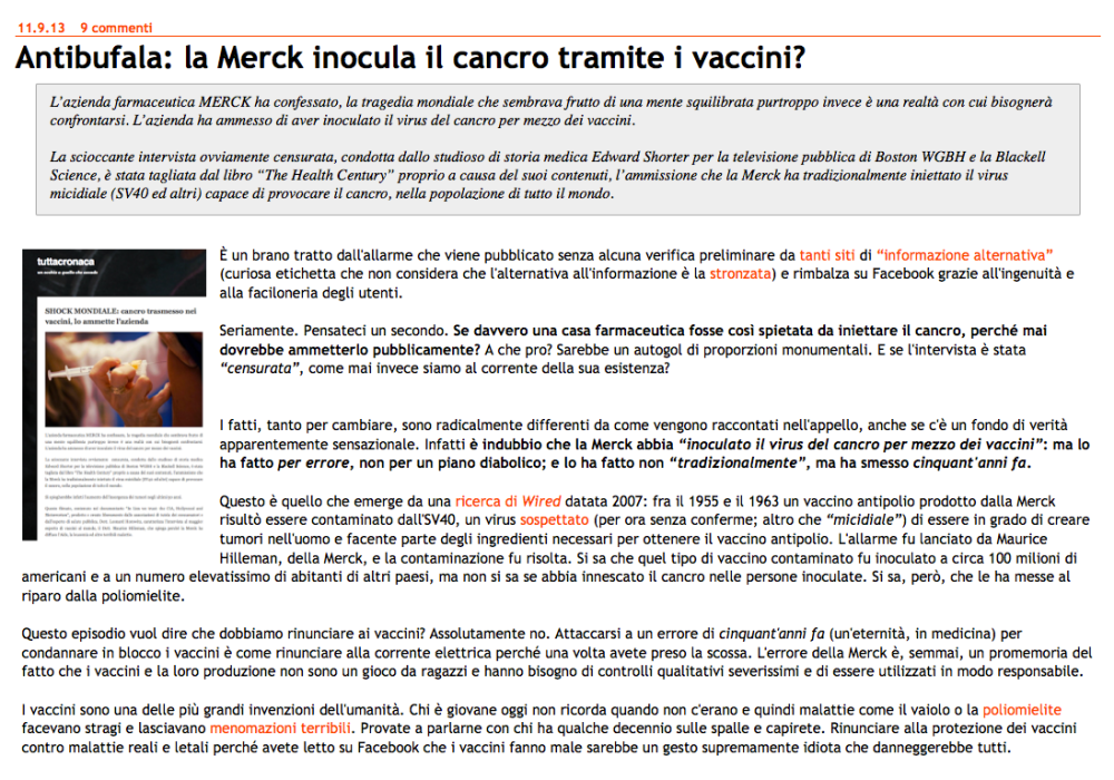 SHOCK MONDIALE, cancro trasmesso nei vaccini? Lo ammette l'azienda  (3/6)