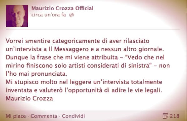 crozza-smentita-facebook-tuttacronaca