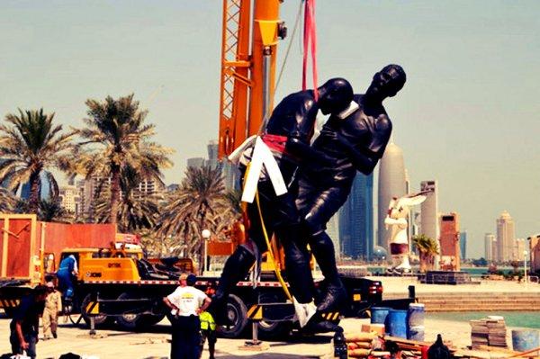 La-testata-di-Zidane-a-Materazzi-la-statua-sbarca-in-Qatar-tuttacronaca