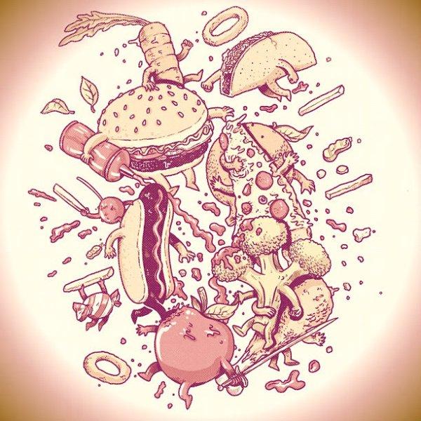 junk food-patatine-panini-tuttacronaca