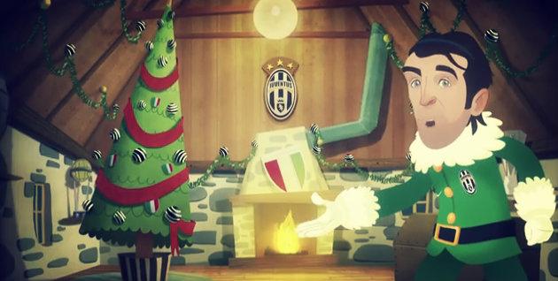 La juve si trasforma in cartone animato… e fa gli auguri