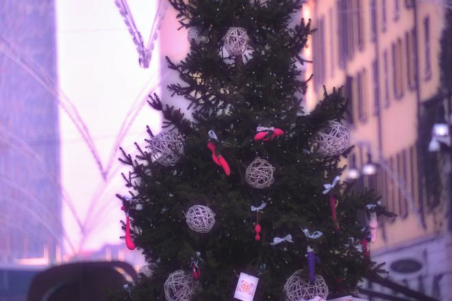 Immagini Hard Di Natale.A Milano L Albero Di Natale E Hot Decorato Con Vibratori