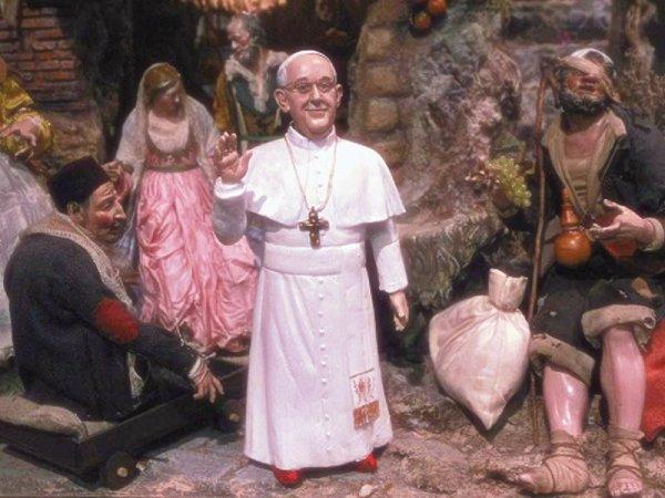 Papa Francesco presepe-tuttacronaca