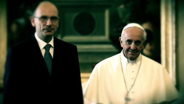 Enrico-Letta-e-Papa-Francesco-tuttacronaca