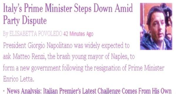 renzi-sindaco-di-napoli-tuttacronaca-new york-times