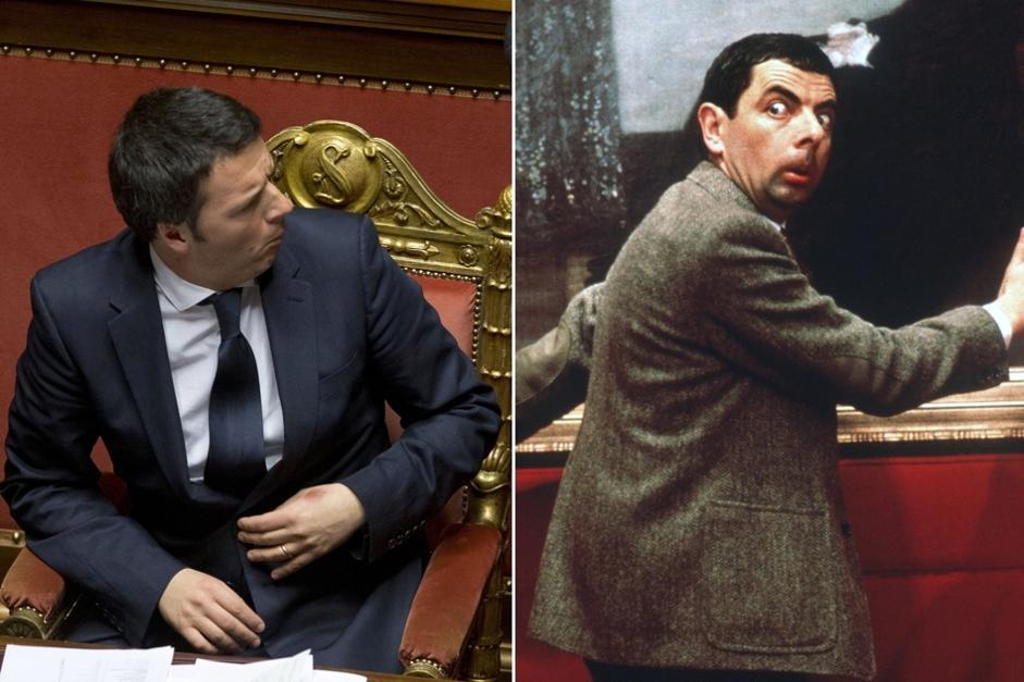 Risultati immagini per Renzi mr bean
